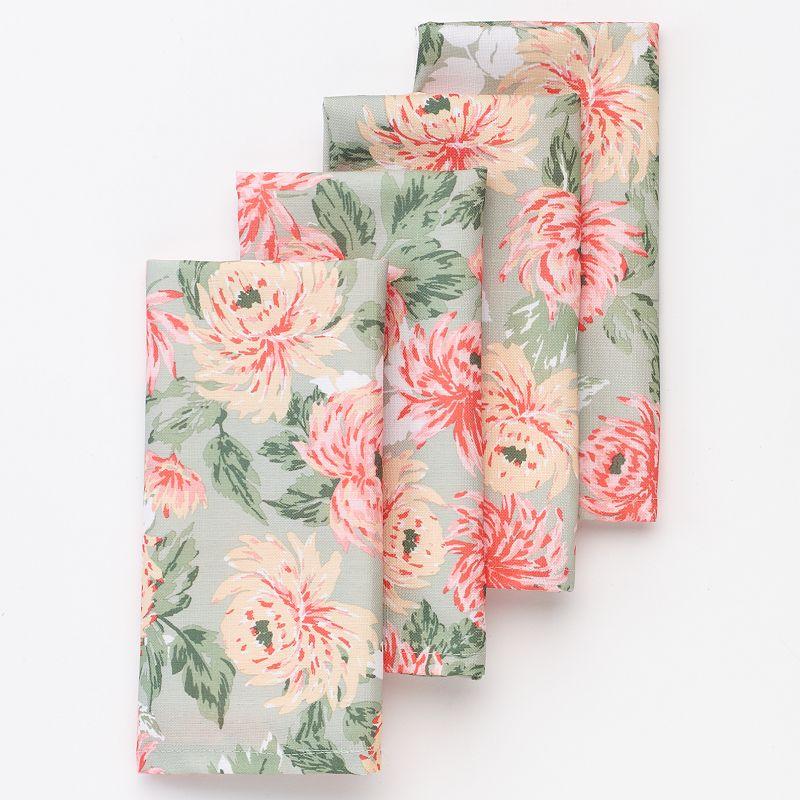 Laura Ashley Floral Bloom 4-pc. Napkin Set
