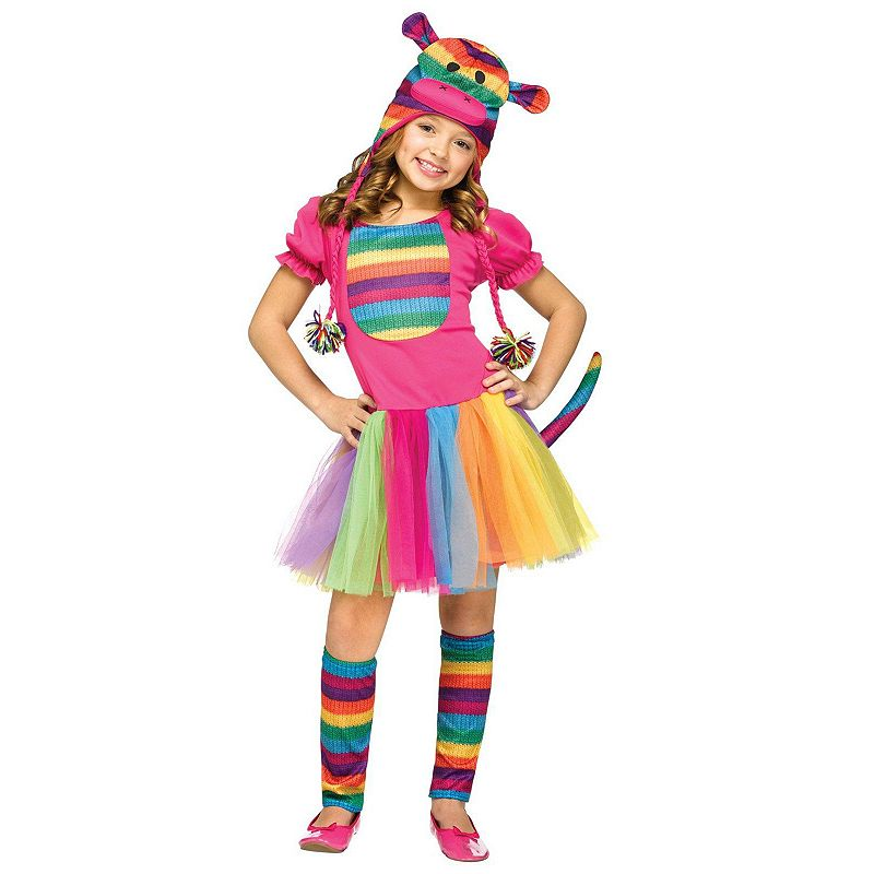 Rainbow Sock Monkey Costume - Kids
