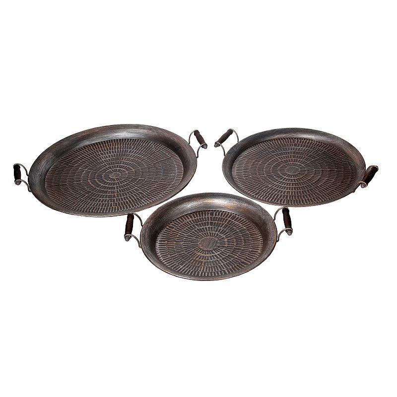 Privilege 3-Piece Moroccan Iron Tray Set