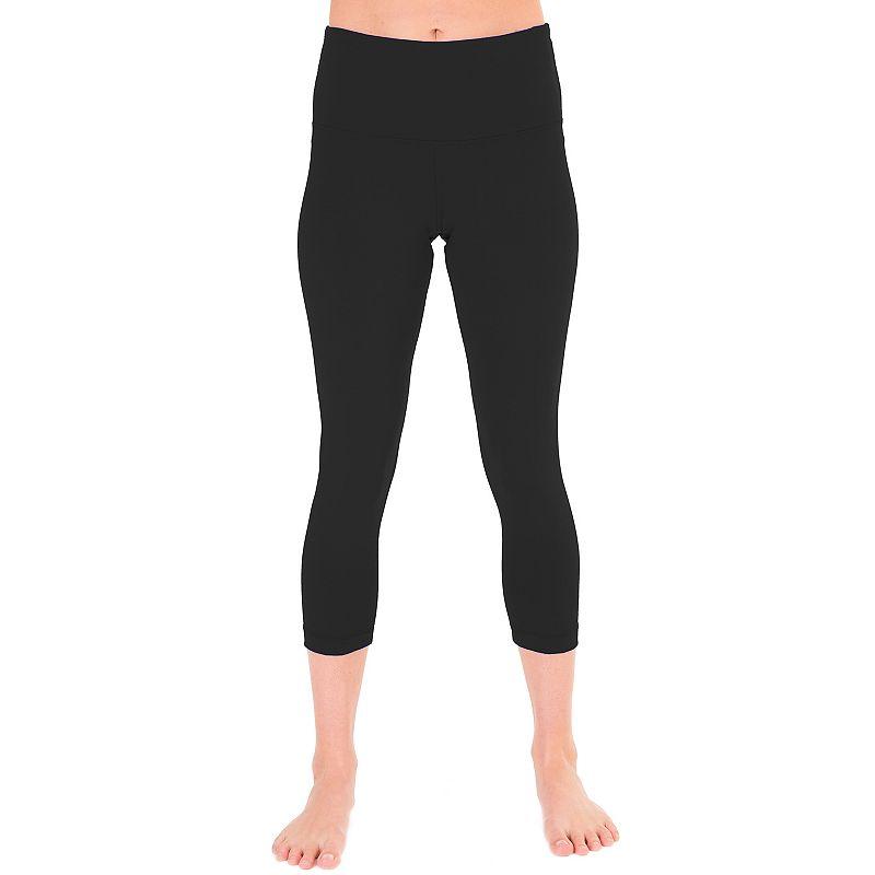 Women's 90 Degree by Reflex Foldover High-Waist Capri Workout Leggings