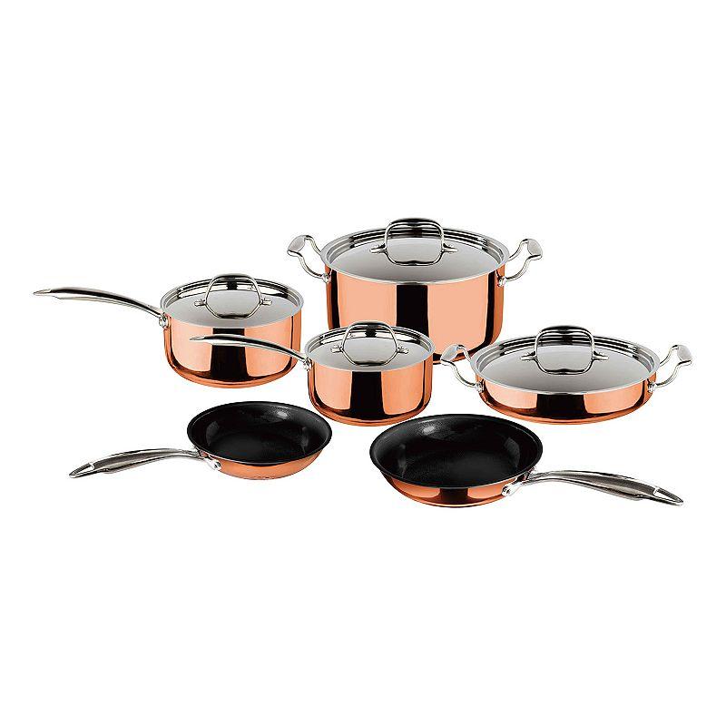 CeraStone Triumph 10-pc. Nonstick Aluminum Copper Cookware Set