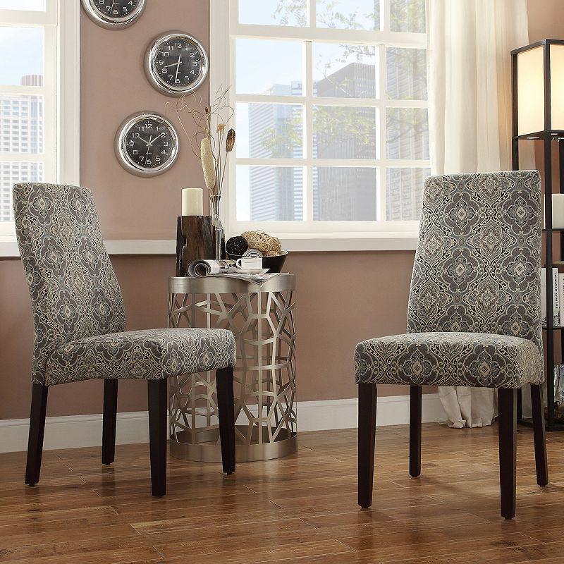 HomeVance Lacey 2-piece Medallion Contoured Back Side Chair Set