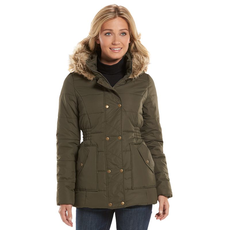 Women's Krush Cinch-Waist Hooded Puffer Jacket