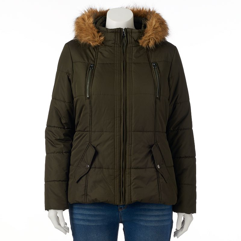 Plus Size Krush Short Hooded Puffer Jacket