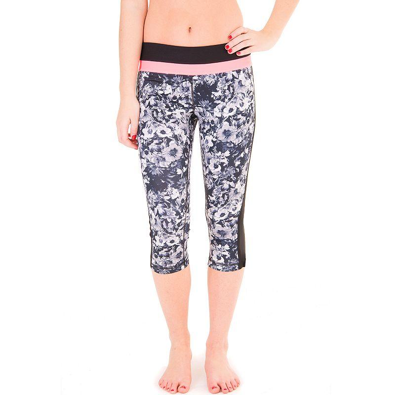 90 Degree by Reflex Pop Color Combo Capri Workout Leggings - Women's