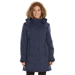 Womens Hemisphere Hooded Quilted Storm Coat by