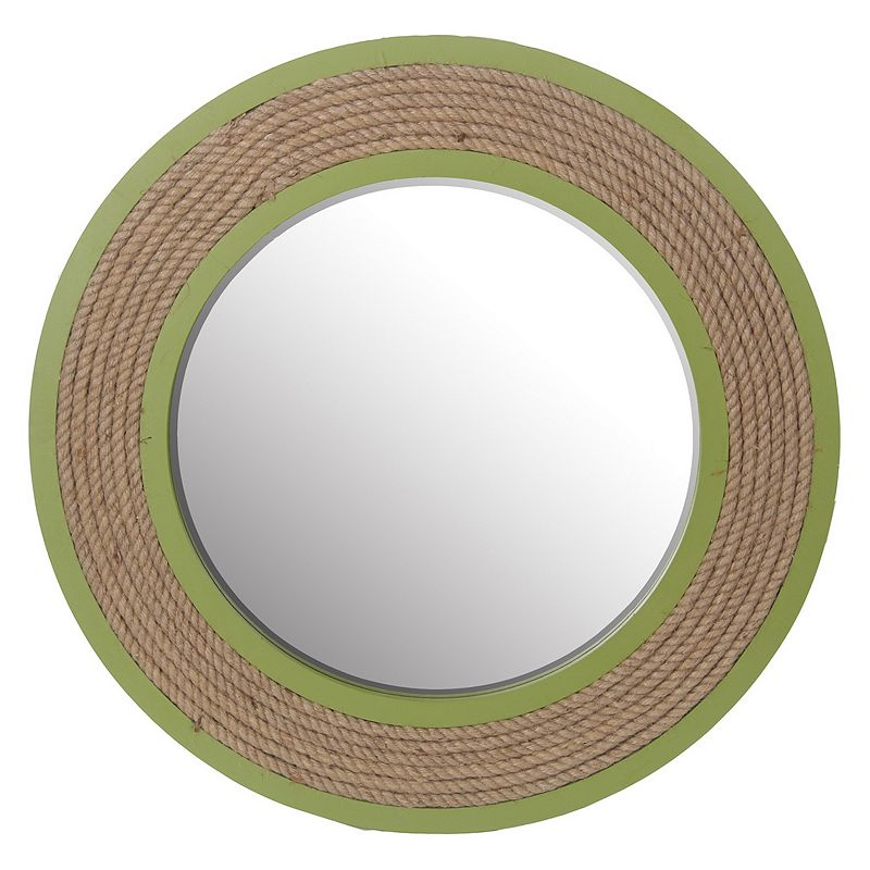 Privilege Straw Round Mirror