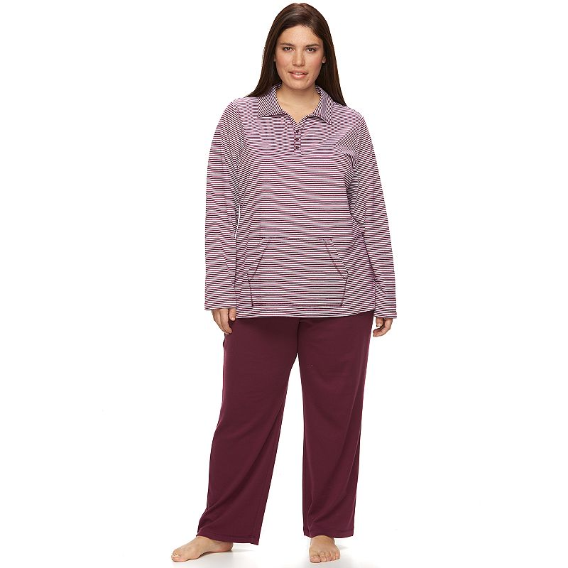 Plus Size Croft & Barrow® Pajamas: Swept Away Lounge Pajama Set
