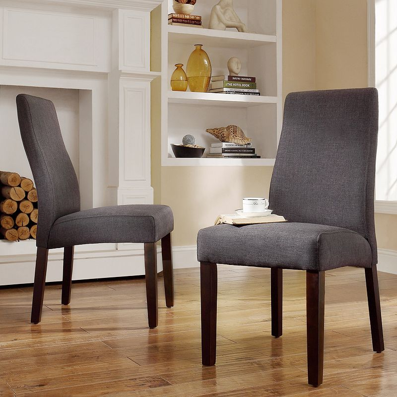 HomeVance Lacey 2-piece Contoured Back Side Chair Set