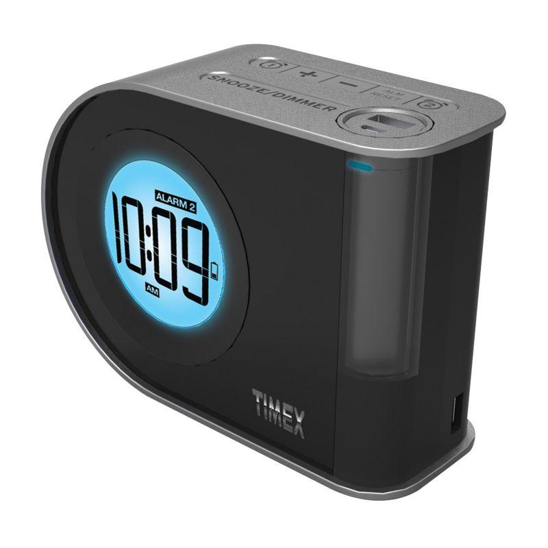 Timex Dual Charging Indiglo Dual Alarm Clock, Black