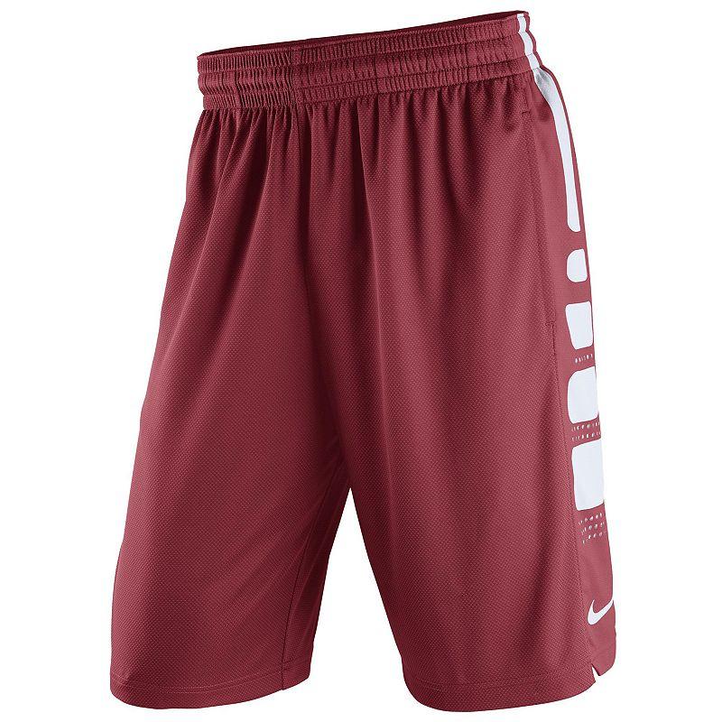 Men's Nike Arkansas Razorbacks Elite Striped Basketball Shorts