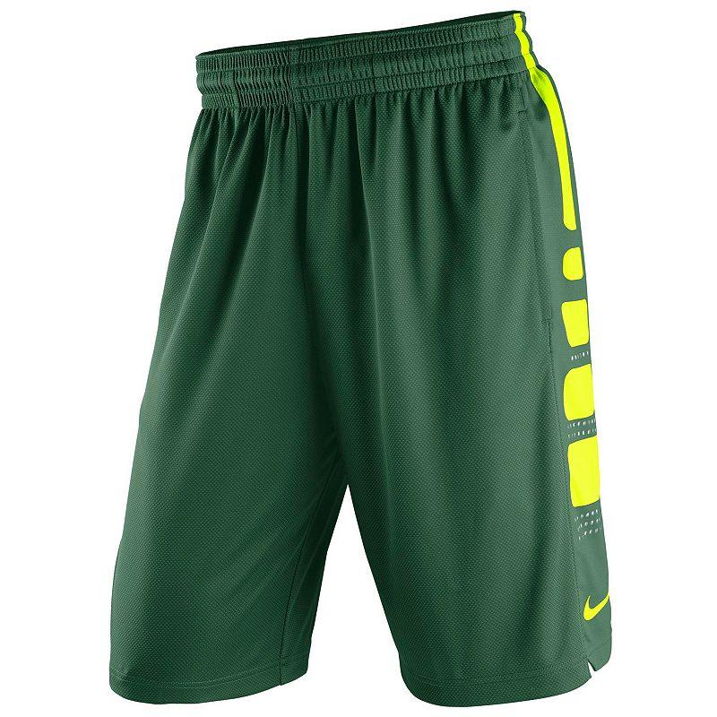 Men's Nike Baylor Bears Elite Striped Basketball Shorts