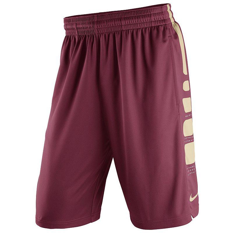 Men's Nike Florida State Seminoles Elite Striped Basketball Shorts