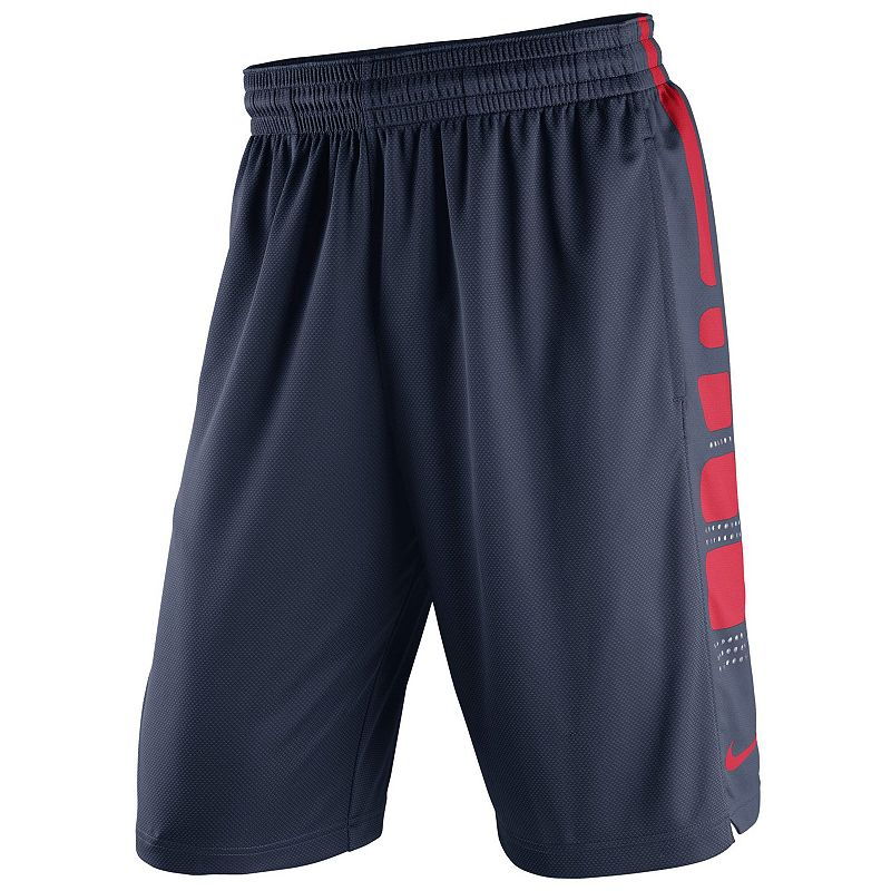 Men's Nike Gonzaga Bulldogs Elite Striped Basketball Shorts