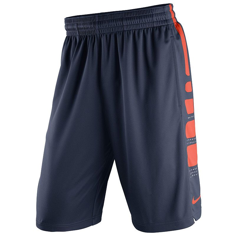 Men's Nike Illinois Fighting Illini Elite Striped Basketball Shorts