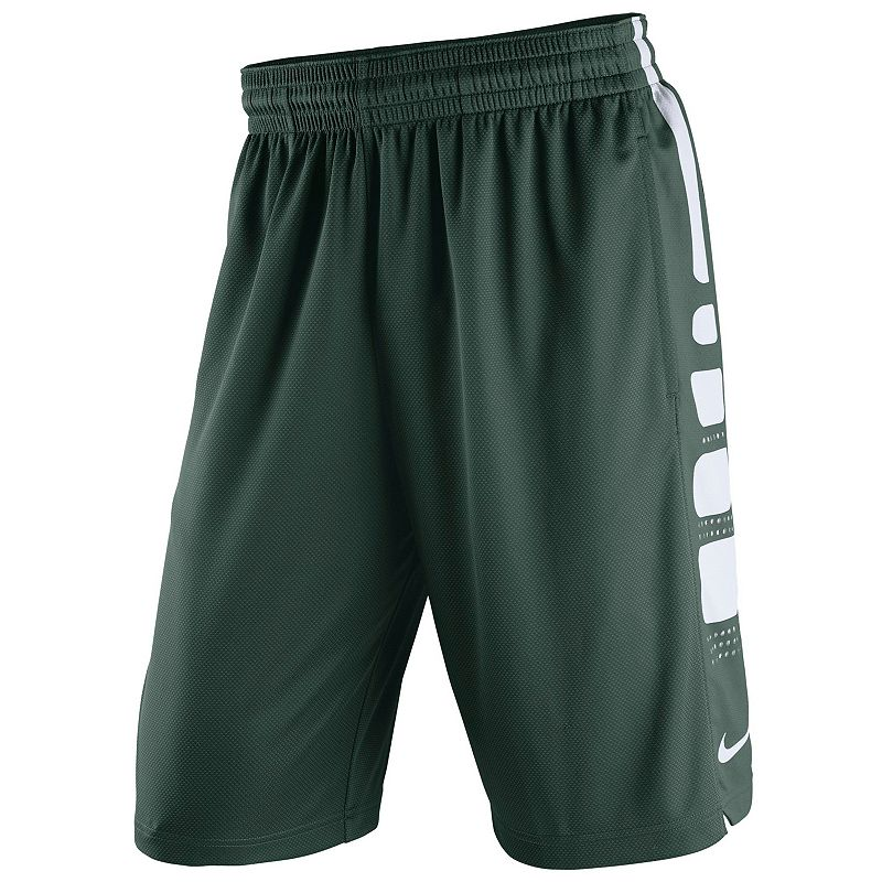 Men's Nike Michigan State Spartans Elite Striped Basketball Shorts