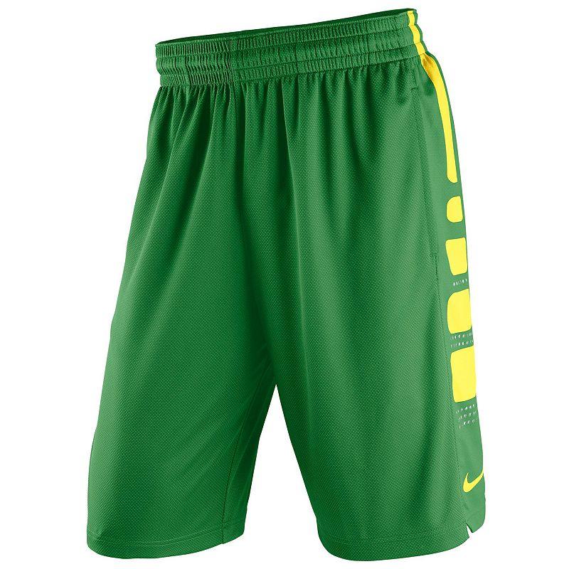 Men's Nike Oregon Ducks Elite Striped Basketball Shorts