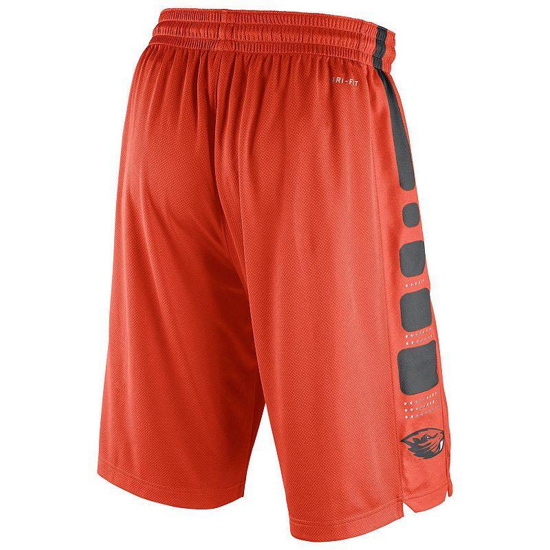 Men's Nike Oregon State Beavers Elite Striped Basketball Shorts