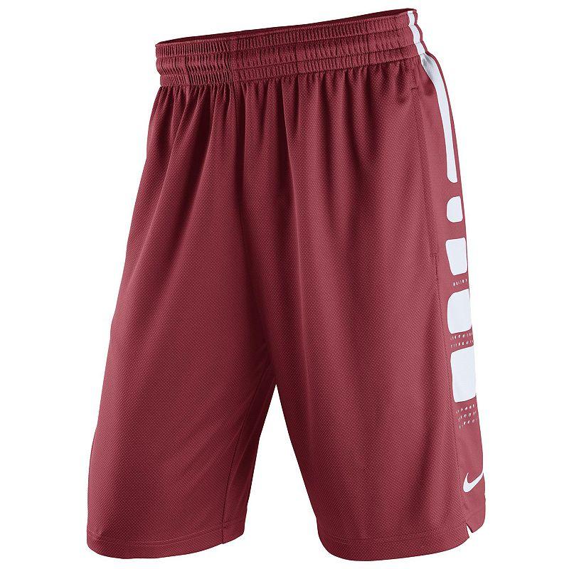 Men's Nike Oklahoma Sooners Elite Striped Basketball Shorts