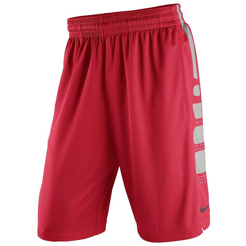 Men's Nike Ohio State Buckeyes Elite Striped Basketball Shorts