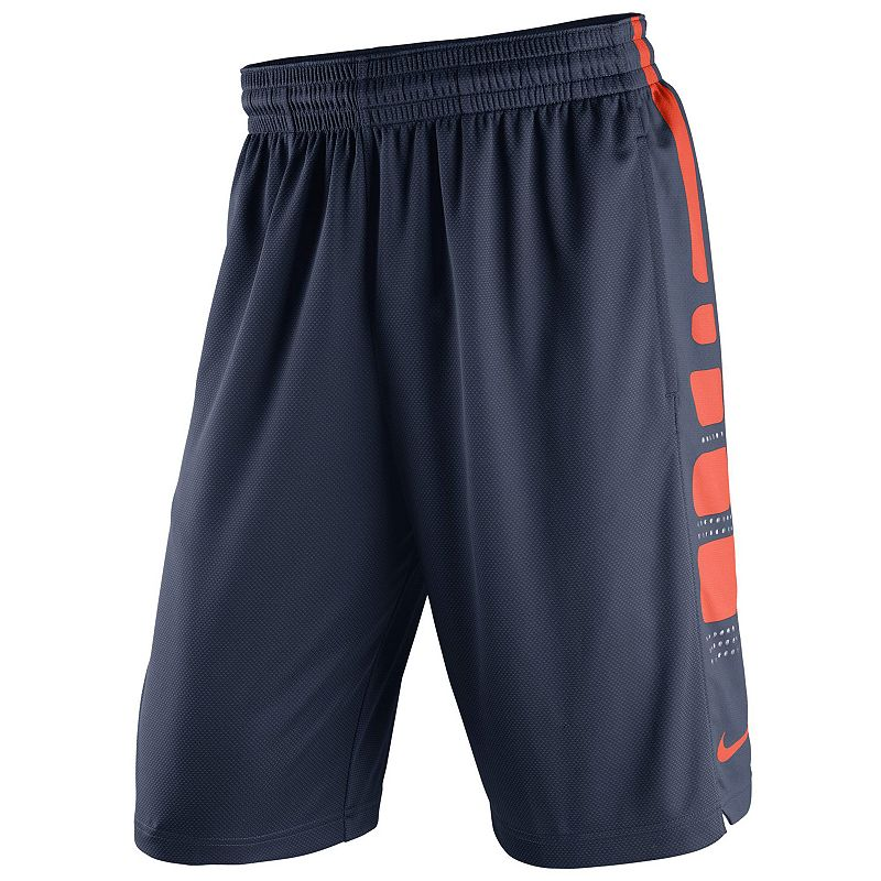 Men's Nike Syracuse Orange Elite Striped Basketball Shorts