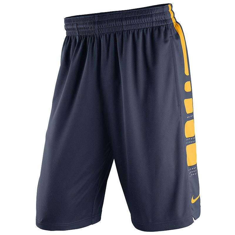Men's Nike West Virginia Mountaineers Elite Striped Basketball Shorts