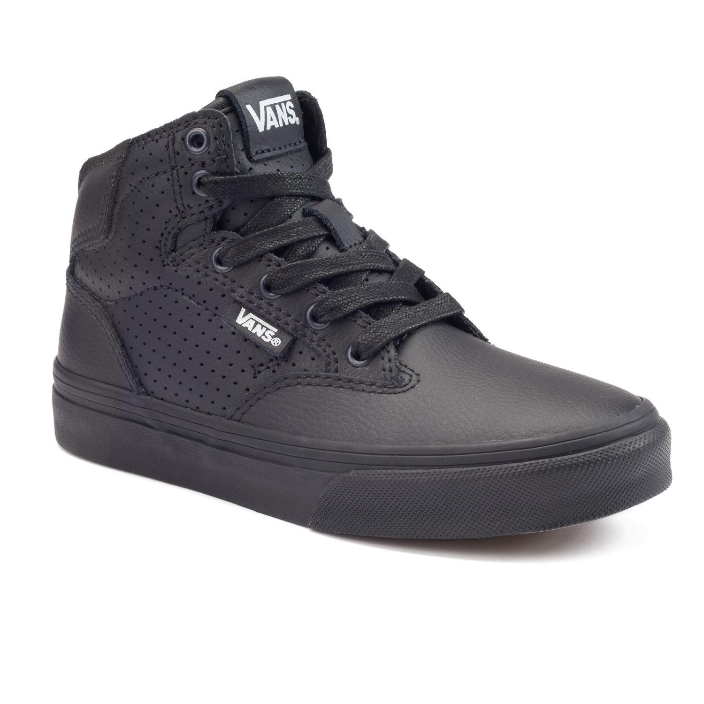 black leather vans size 3