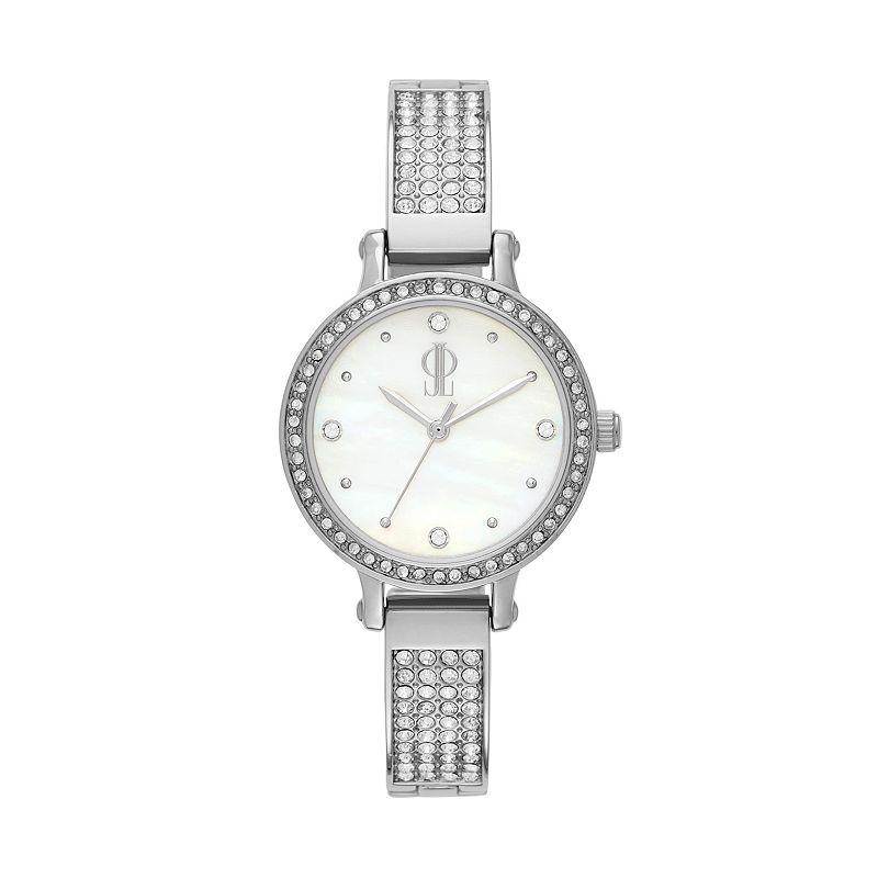 Jennifer Lopez Women's Lara Stainless Steel Half-Bangle Watch