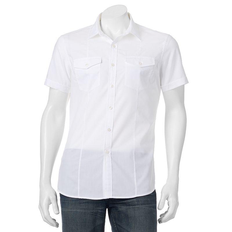 Apt. 9® Textured Slim-Fit Button-Down Shirt - Men