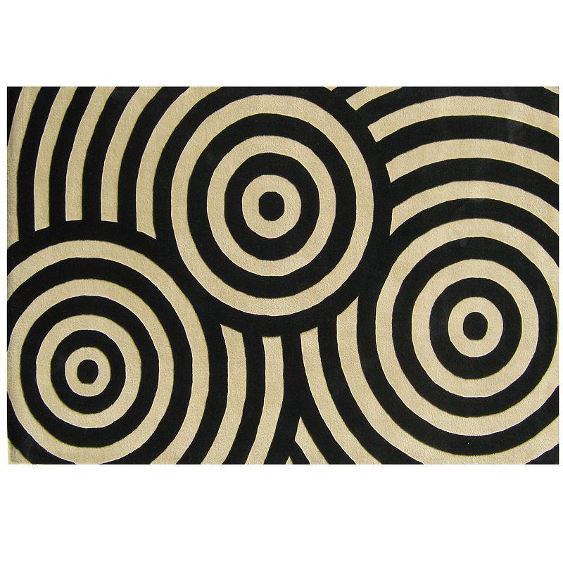 Alliyah Rugs ZnZ Bullseye Wool Rug