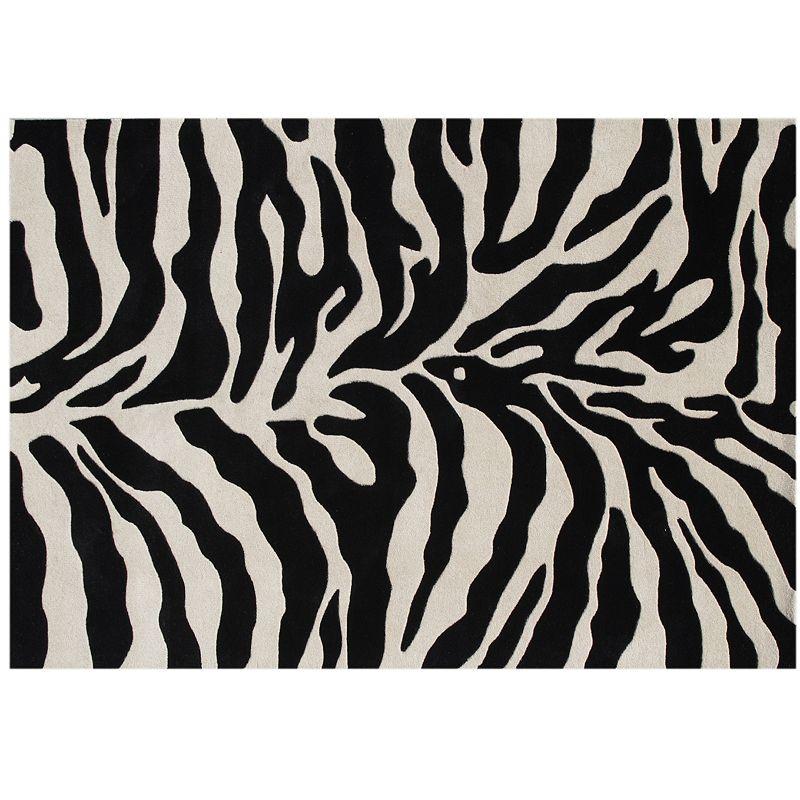 Alliyah Rugs ZnZ Zebra Plush Wool Rug