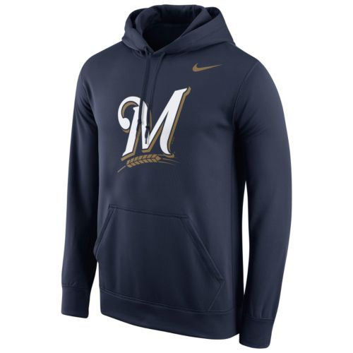 Men's Nike Milwaukee Brewers Therma-FIT Pullover Hoodie