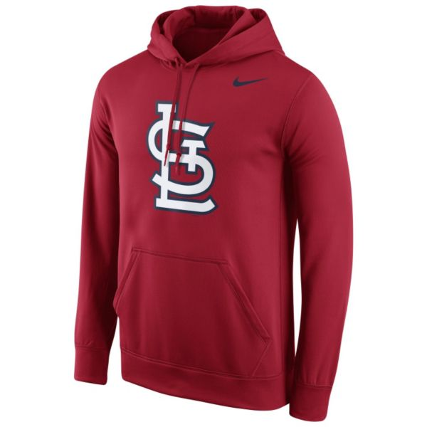 Men's Nike St. Louis Cardinals Therma-FIT Pullover Hoodie