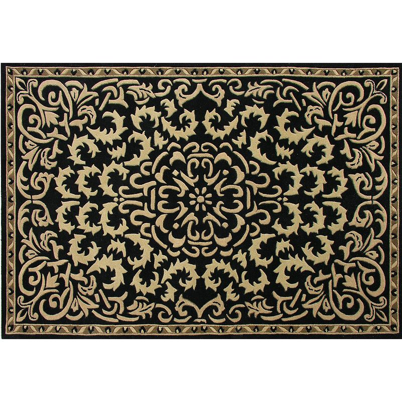 Alliyah Rugs ZnZ Leaf Scroll Wool Rug