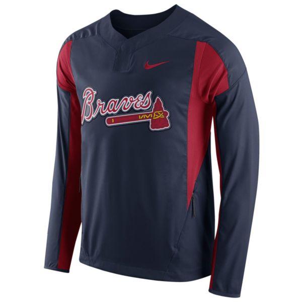Men's Nike Atlanta Braves Windbreaker Pullover