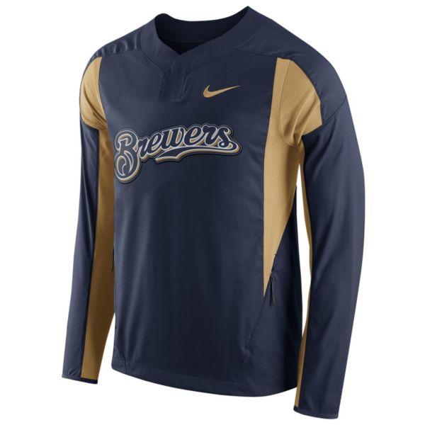 Men's Nike Milwaukee Brewers Windbreaker Pullover