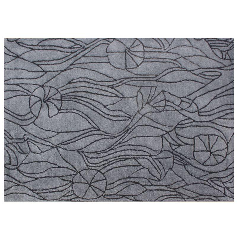 Alliyah Rugs ZnZ Outline Wool Rug