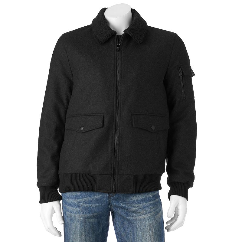 Men's Halifax Traders Wool-Blend Bomber Jacket