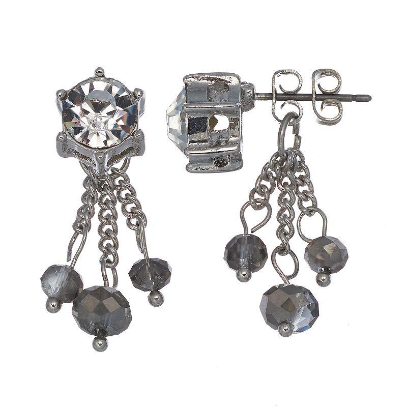 Simply Vera Vera Wang Bead Front-Back Drop Earrings
