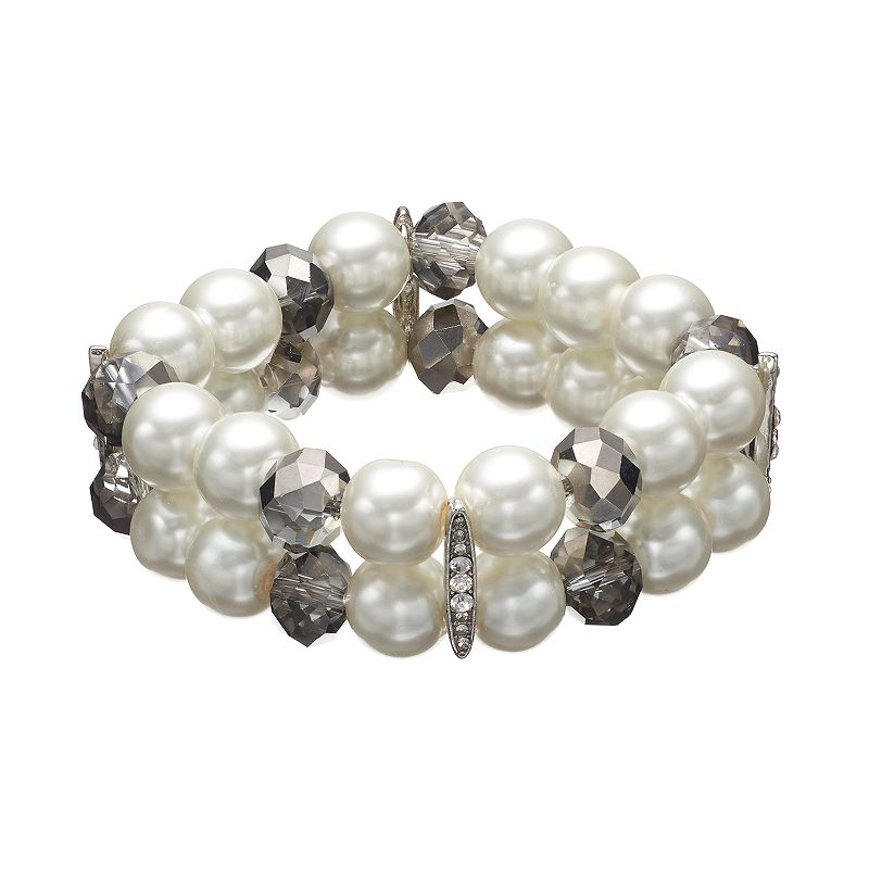Simply Vera Vera Wang Double-Strand Stretch Bracelet