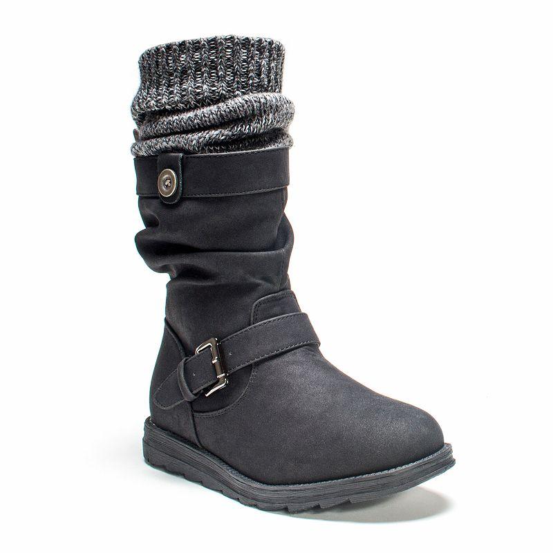 MUK LUKS Sky Women's Knit Cuff Slouch Boots
