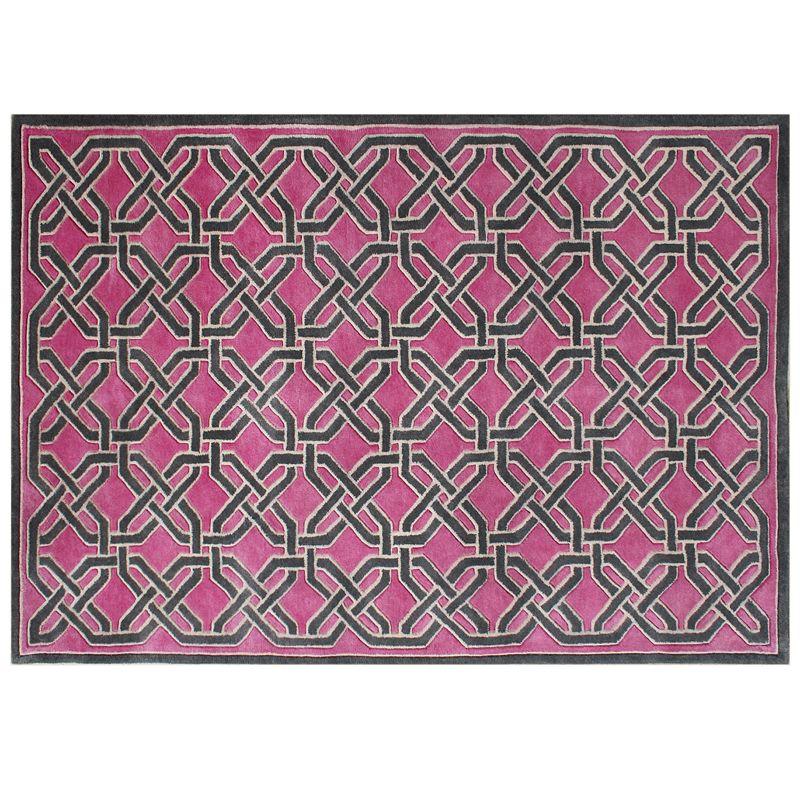Alliyah Rugs ZnZ Geometric Wool Rug