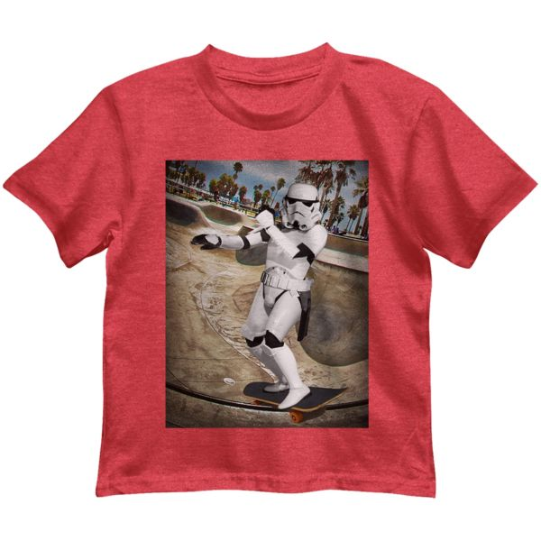 Star Wars Photoreal Skateboarding Stormtrooper Tee - Toddler Boy