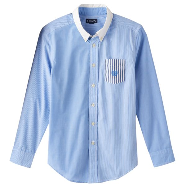Boys 8-20 Party Easy-Care Button-Down Shirt