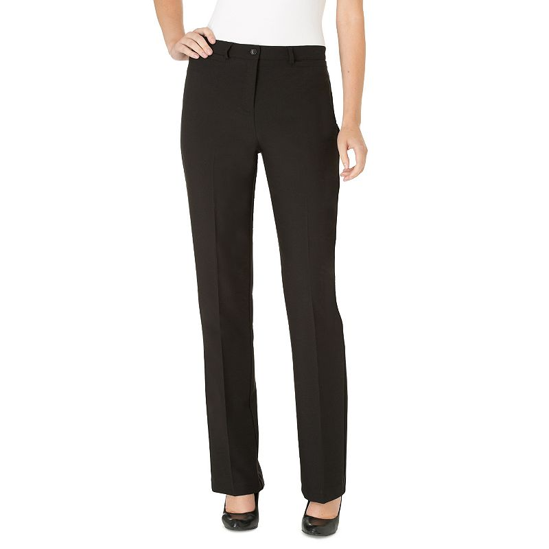 Women's Haggar® Original Fit Comfort Waist Straight-Leg Pants
