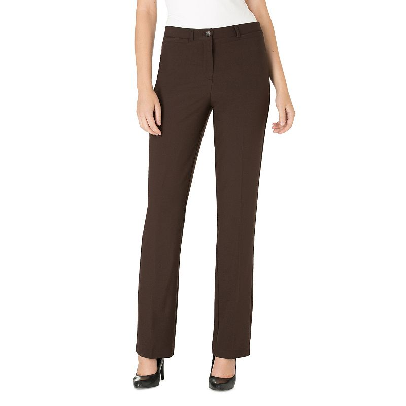 Women's Haggar® Original Fit Comfort Waist Straight-Leg Pants