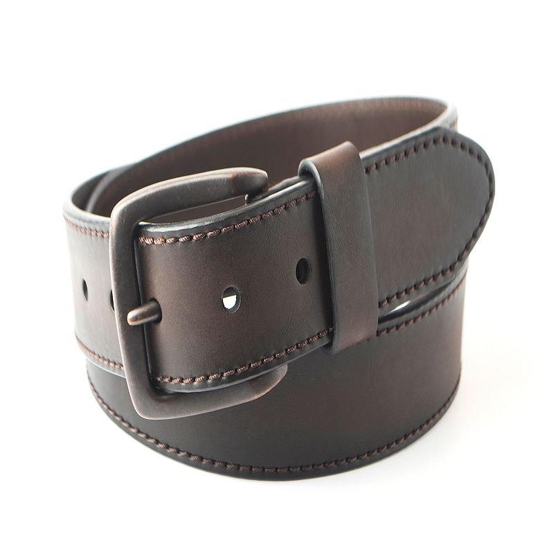 Men's Columbia Flat Lam Ornament Leather Belt