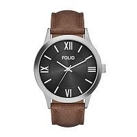 Folio Men's Leather Watch