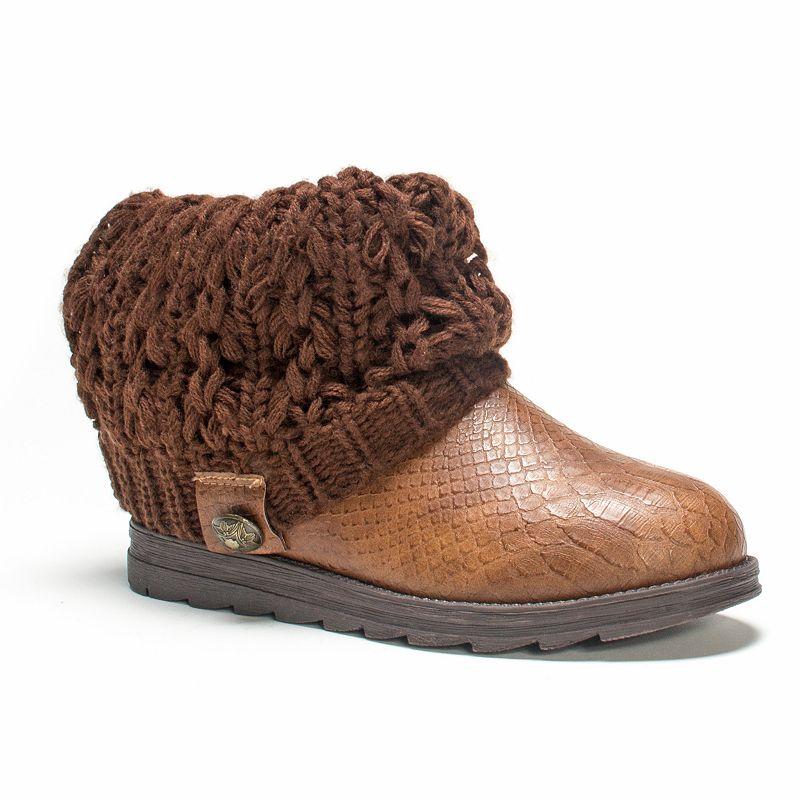 MUK LUKS Patti Women's Cable Knit Cuff Boots