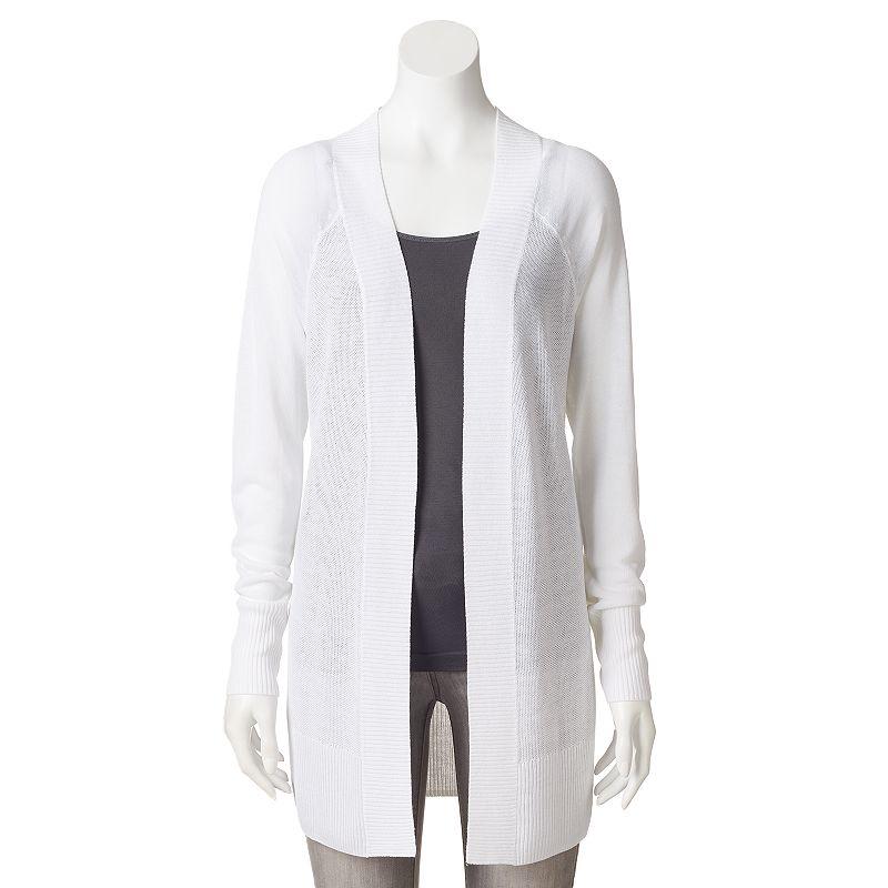 Women's Apt. 9® Raglan Open-Front Cardigan